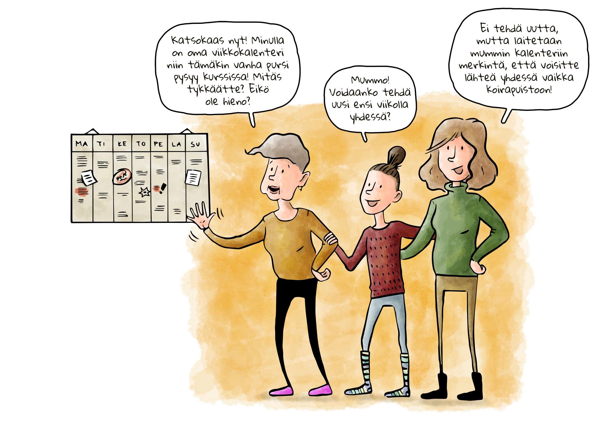 Muisti pätkii -sarjakuva